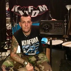 Andy Selway of KMFDM is loving his Galaxy Powered Hot Spot PA6BT.