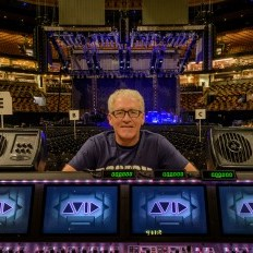Robert Scovill with Galaxy Audio Powered Hot Spot PA6BT's at FOH Control for Tom Petty and the Heartbreakers