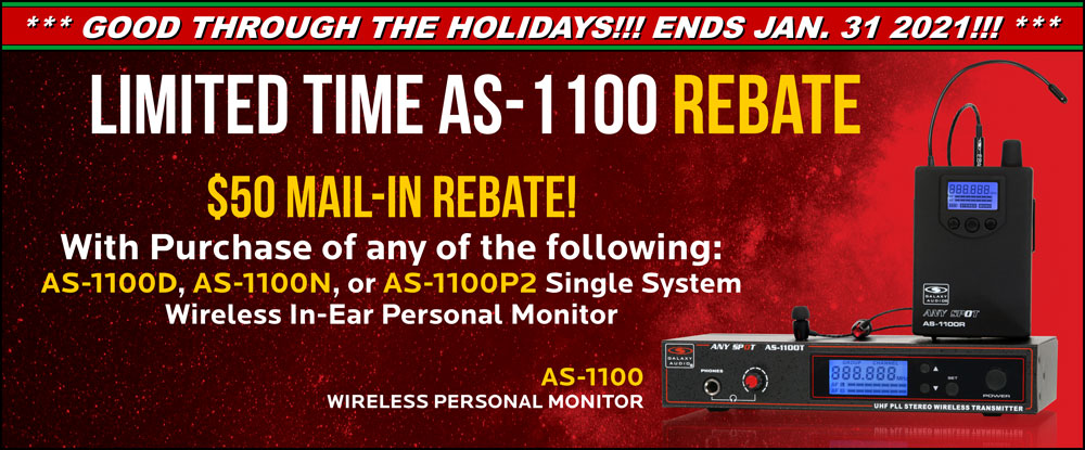 Limited Time AS-1100 Single System $50 Mail-in Rebate