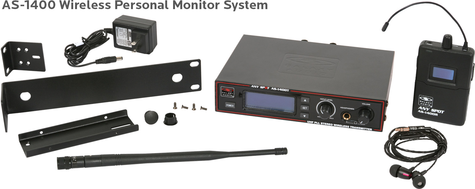 AS-1400 IEM Wireless Personal Monitor System