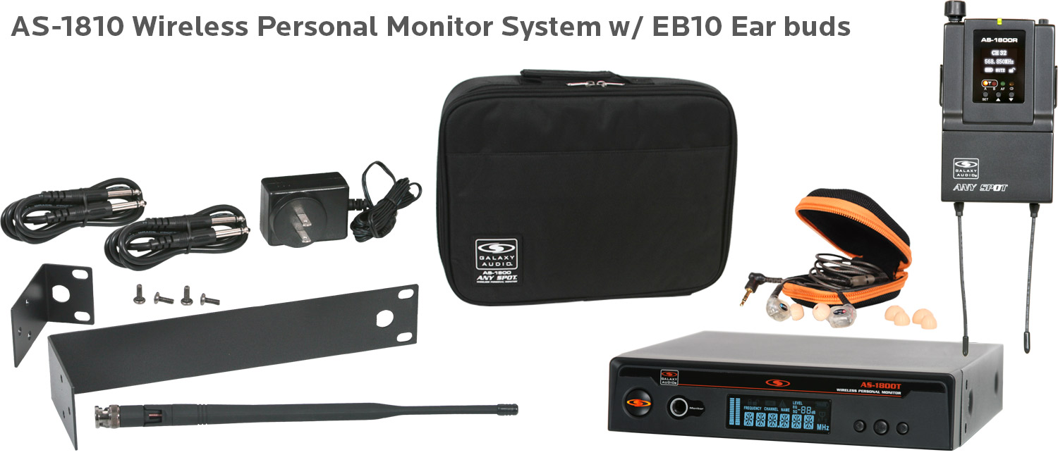 Wireless In-Ear System with EB10 ear buds AS-1810