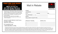 AS-1400 Mail-in Rebate Form for EB6 Ear Bud Upgrade PDF Format