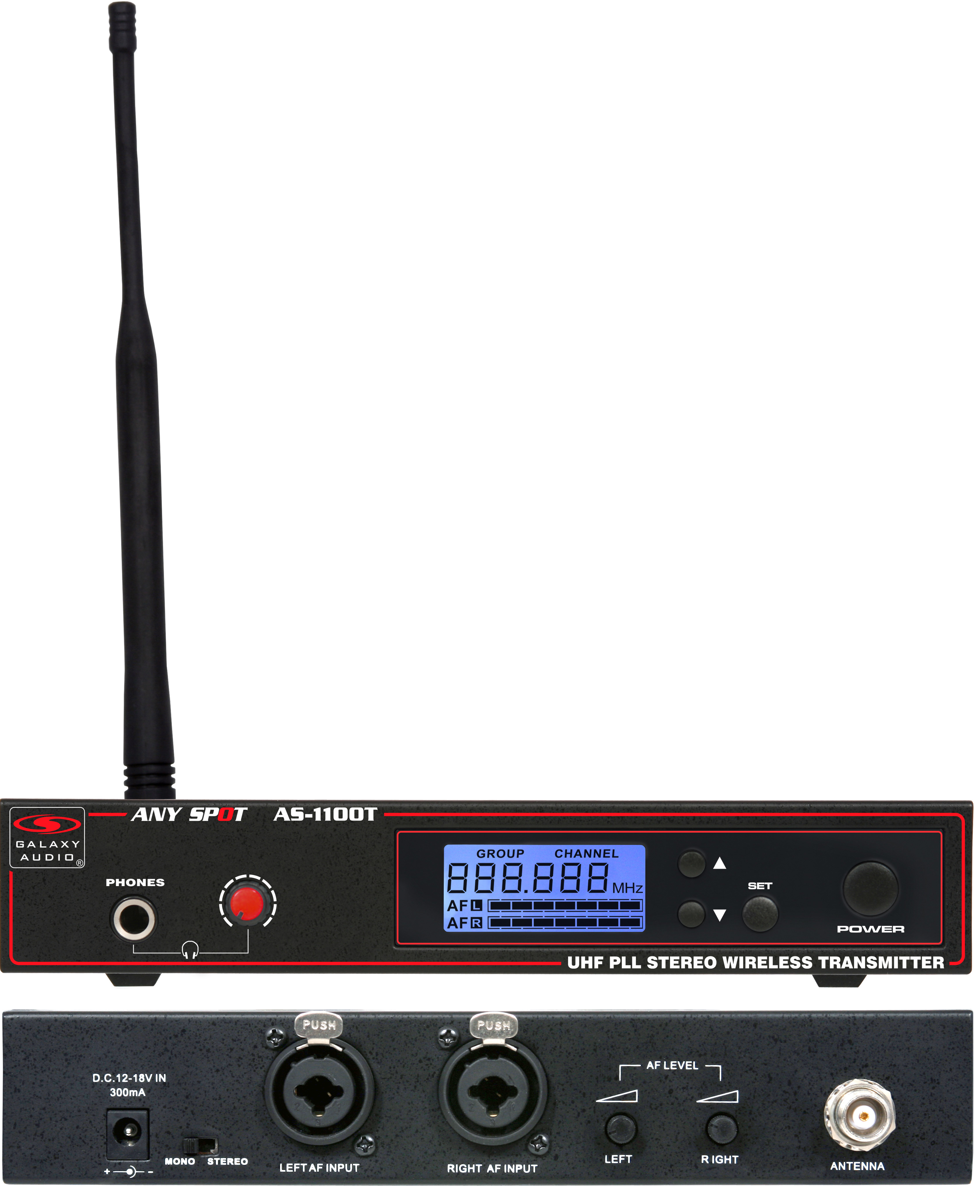 Galaxy Audio 1100 SERIES Wireless In-Ear Monitor Receiver Frequency with EB6 Earbuds Freq N