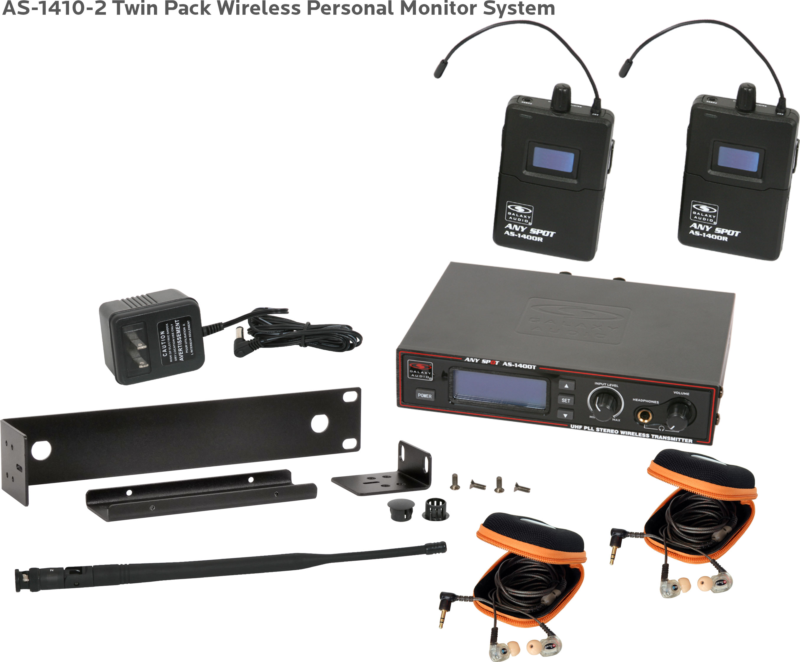 10d17f38095 AS-1410-2 Wireless In-Ear Twin Pack System with EB10 Ear Buds