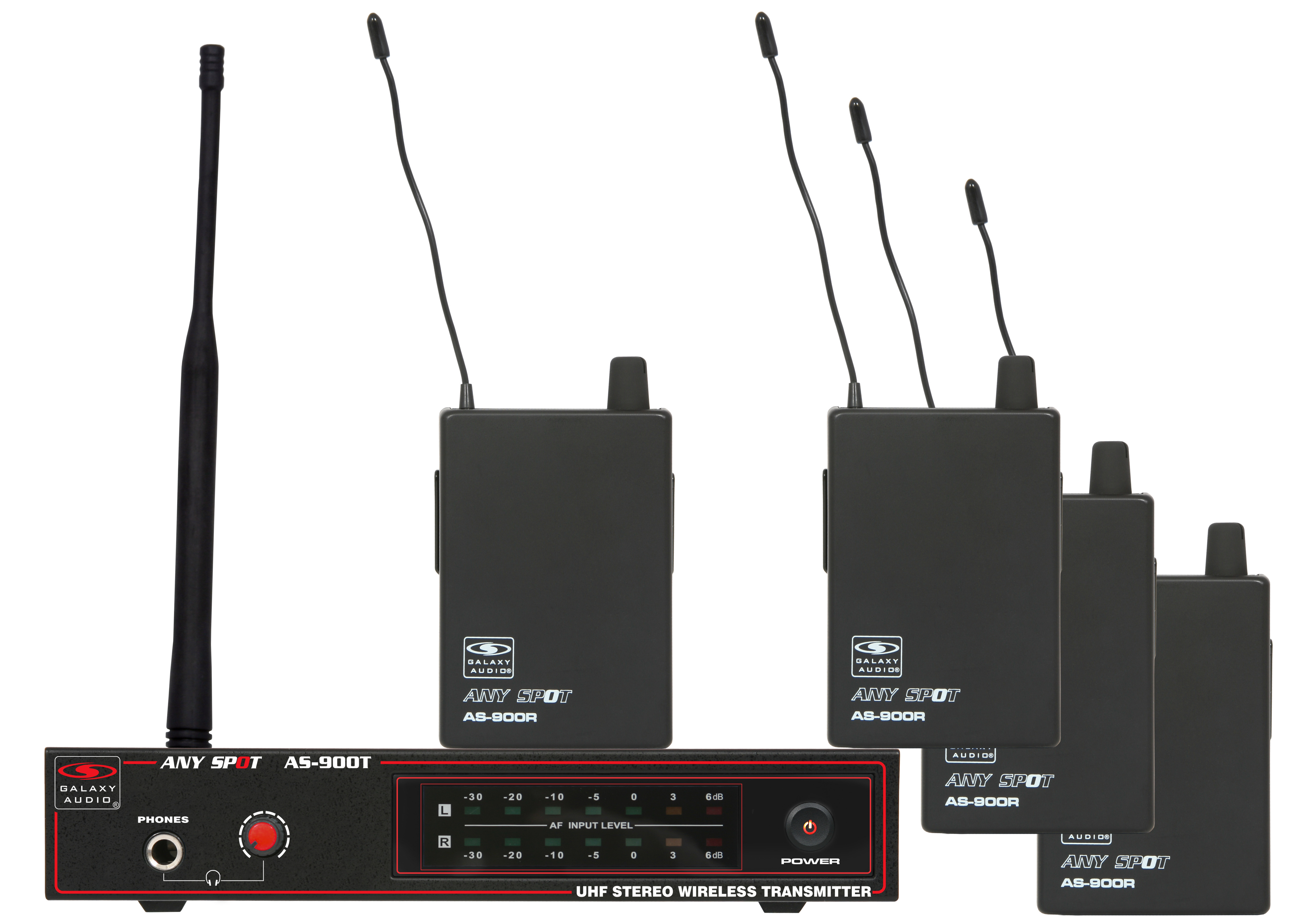 galaxy audio as 900 4 band pack wireless personal monitor system. Black Bedroom Furniture Sets. Home Design Ideas