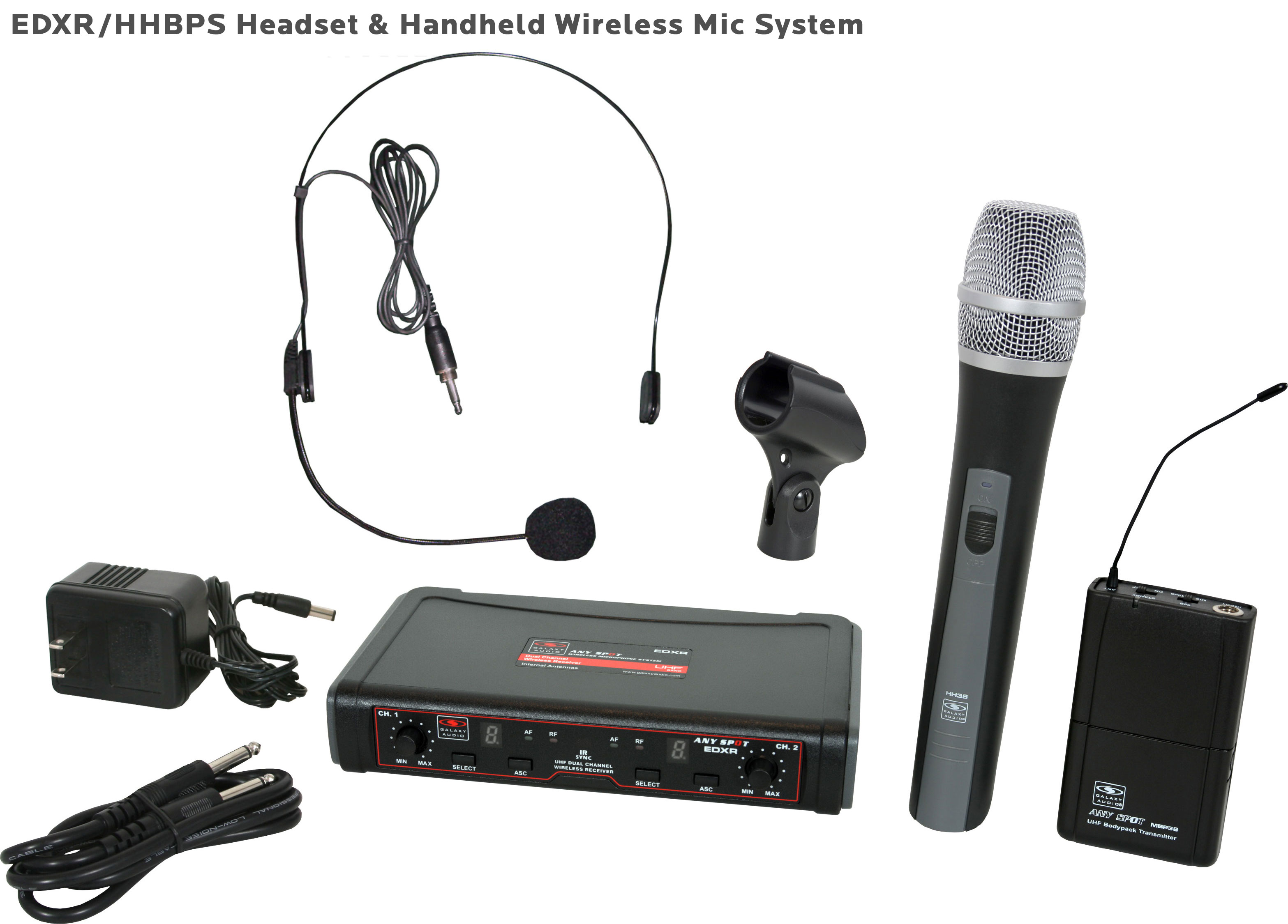 Galaxy Audio EDX Dual Channel Wireless Microphone System