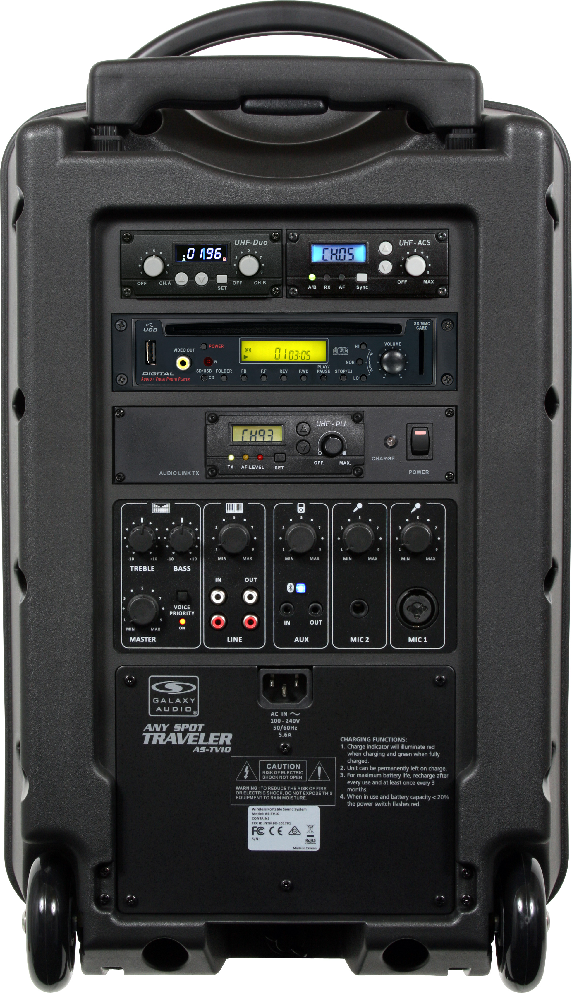Galaxy Audio Tv10 Portable Pa System