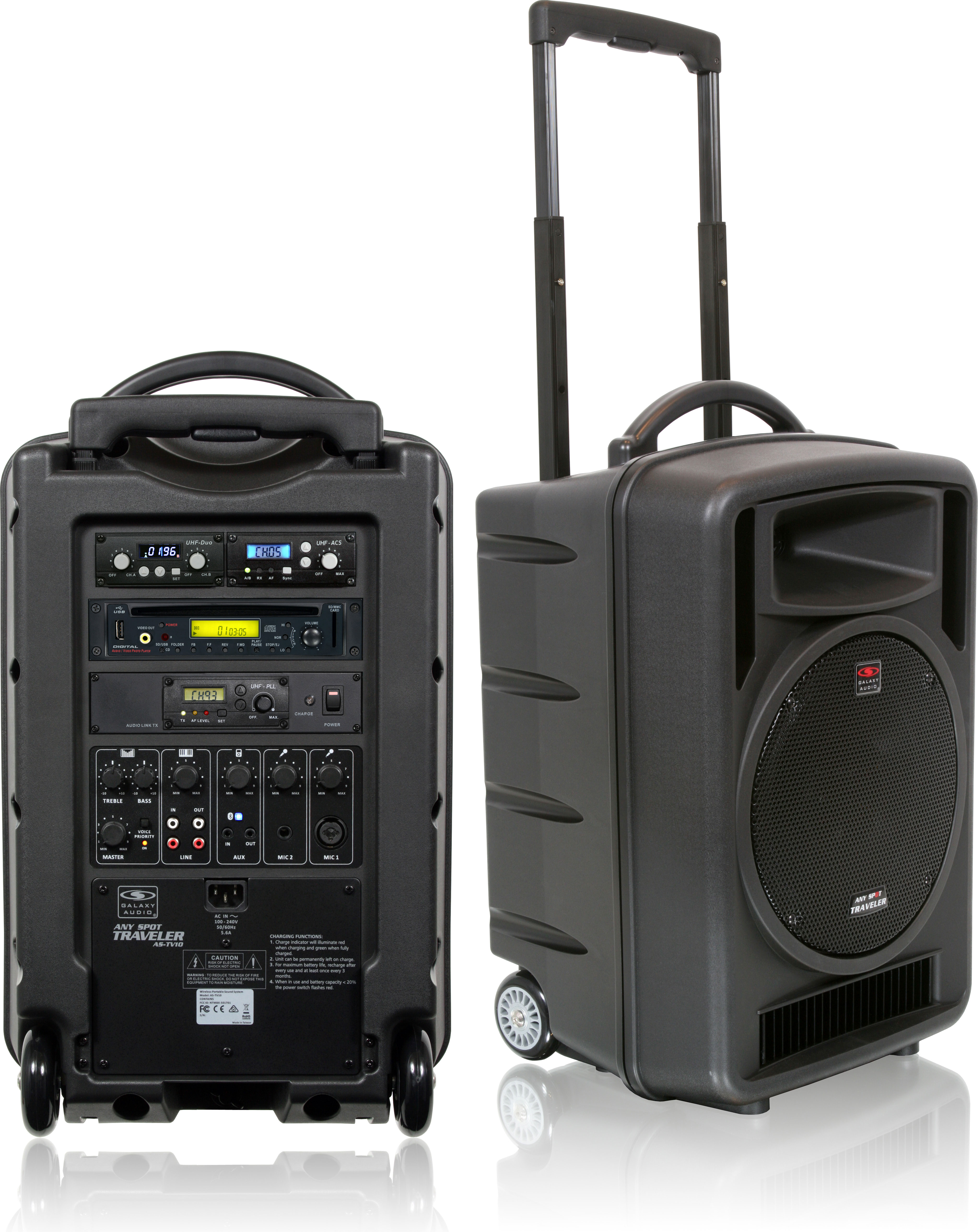 galaxy audio tv10 portable pa system. Black Bedroom Furniture Sets. Home Design Ideas