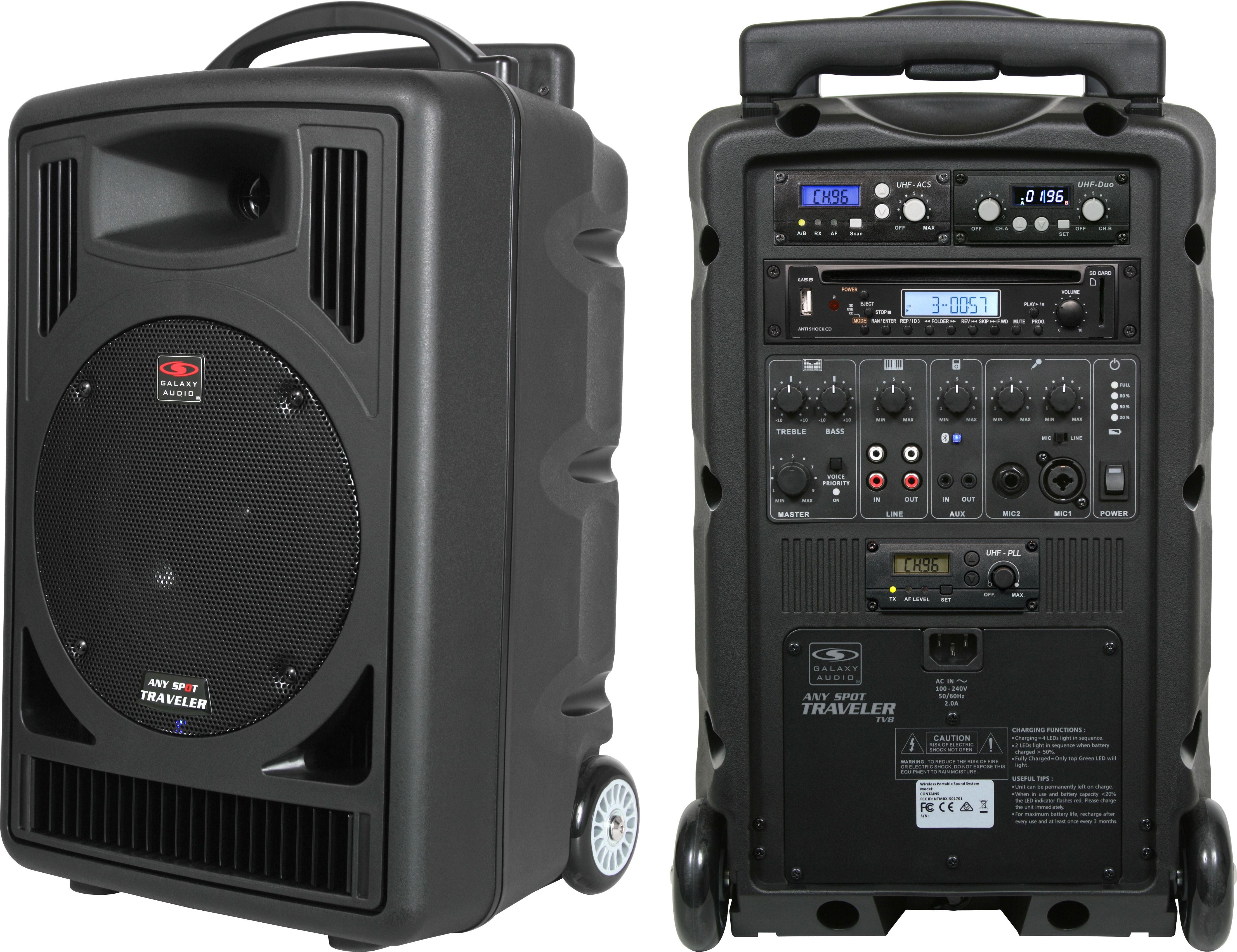 tv8 portable 8 speaker pa system