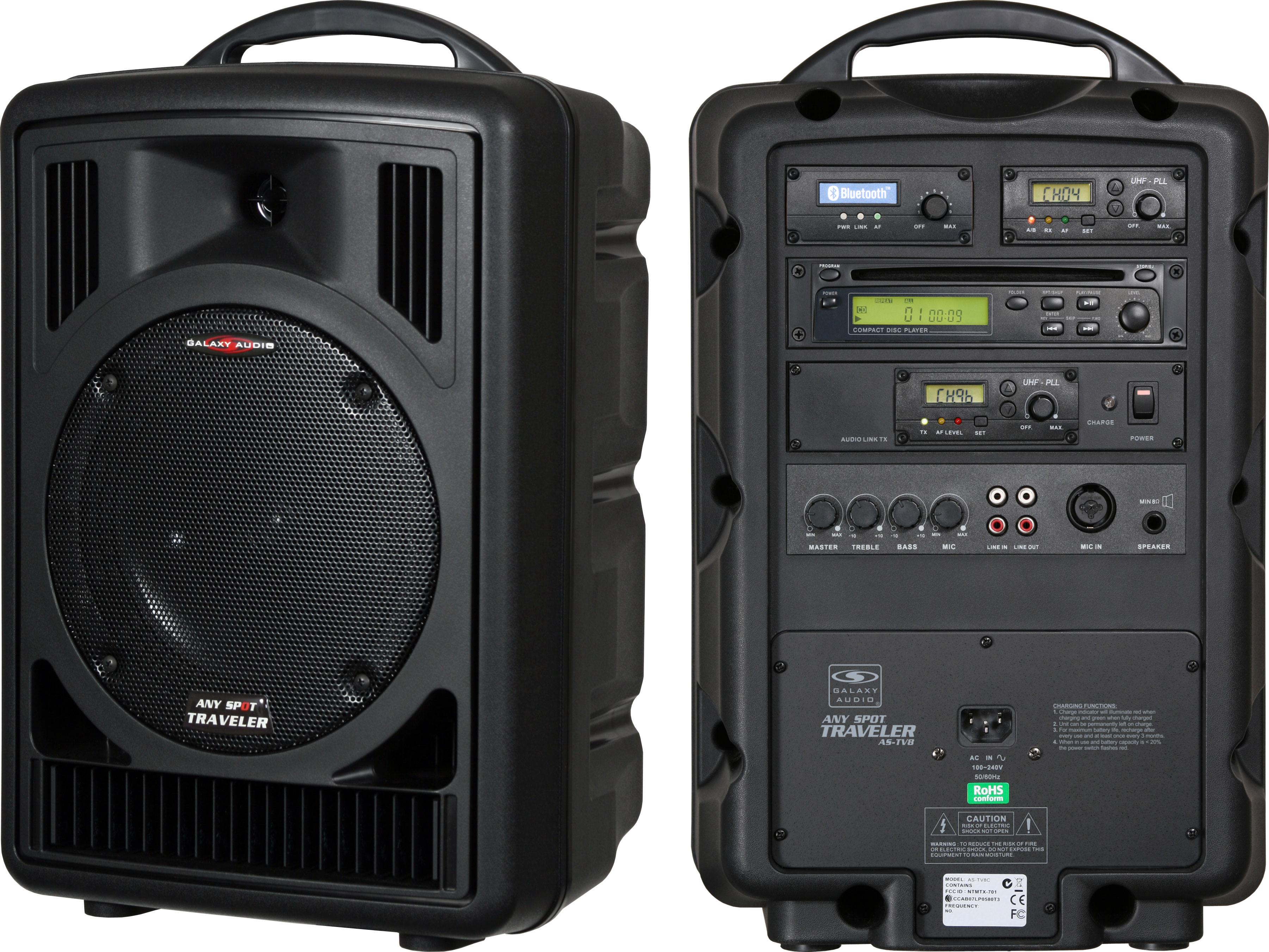 galaxy audio tv8 portable pa system. Black Bedroom Furniture Sets. Home Design Ideas