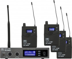AS-1500-4 Band Pack System. The 1500 Band Pack Systems makes it easy for any band to Get Personal. The system Includes four receivers and one transmitter. It is designed to get the whole band wireless in one package. The AS-1500-4 will allow a band to send one stereo mix to 4 individuals (additional receivers may be purchased). Additional transmitters may be purchased at a later date to add mixes.
