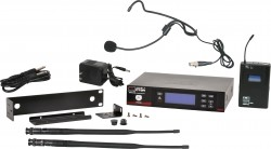 CTSR/85HS - Headset Mic: Uni-directional, Frequency Response 50Hz-18kHz. This system includes the CTSR Receiver, the MBP85 Body Pack Transmitter, and the HS-U3BK Headset Microphone.