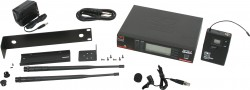 DHXR/77LV - Lavalier Mic: Uni-element, Frequency Response 50Hz-19kHz. This system includes the DHXR Receiver, MBP77 Body Pack Transmitter, and the LV-U3BK Lavalier Microphone.