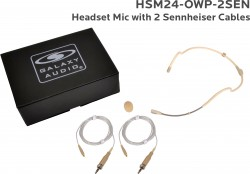 HSM24-OWP-2SEN: Beige Omni-Directional Waterproof Headset Mic: Includes (1) Dual Ear Waterproof Headset Mic, (2) Waterproof Sennheiser Connector Cables, (1) Windscreen, and (1) Case