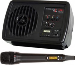 PA6SRHK9 - The PA6SRHK9 system includes a wireless receiver (PA6SR), wireless hand held microphone (TVHH) and a convenient mic stand insert on the bottom of the unit. This allows a quick setup on top of a mic stand, with the PA6SR angled upward for accurate vocal monitoring.