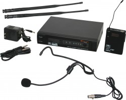PSER/52HS - Headset Mic: Uni-directional, Frequency Response 50Hz-18kHz. This system includes the PSER Receiver, the MBP52 Body Pack Transmitter, and the HS-U3BK Headset Microphone.
