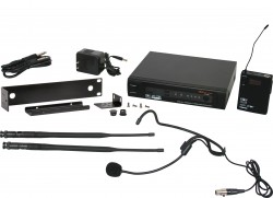 PSER/52HS - Headset Mic: Uni-directional, Frequency Response 50Hz-18kHz. This system includes the PSER Receiver, the MBP52 Body Pack Transmitter, and the HS-U3BK Headset Microphone. System also includes MREWD Single/Dual Rack Kit.