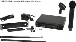 PSER/HH52 - This system includes the PSER Receiver and the HH52 Handheld Transmitter. System also includes MREWD Single/Dual Rack Kit.