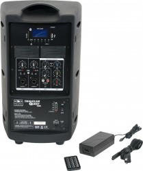 TQ8-0000 Base model includes the TQ8 PA Speaker, MP3 Remote, and Power Supply.