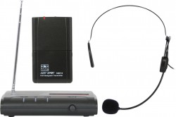 VESR/18S - Wireless Headset Microphone System: Cardoid Polar Pattern, 9.68mm Condenser Element, 37