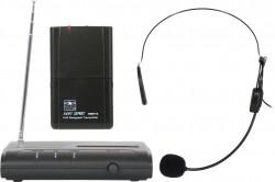 VESR/18S - Wireless Headset Microphone System: Cardoid Polar Pattern, 9.68mm Condenser Element, 37