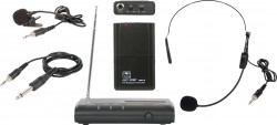 VESR/318 - 3-in-1 Wireless Body Pack System: This Triple Play system includes the VESR Receiver, the MBP18 Body Pack, a Headset, Lavalier, and a Guitar Cable.