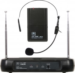 VSCR/18V - Wireless Lavalier System: Cardoid Polar Pattern, 9.68mm Condenser Element, 37