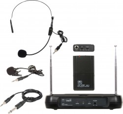 VSCR/318 - 3-in-1 Wireless Body Pack System: This Triple Play system includes the VSCR Receiver, the MBP18 Body Pack, a Headset, Lavalier, and a Guitar Cable.