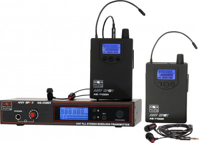 AS-1100-2 with EB4 Twin Pack Wireless Personal Monitor System