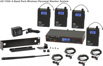 AS-1100-4 Wireless In-Ear Band Pack System
