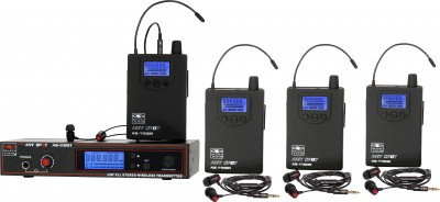 AS-1100-4 with EB4 Band Pack Wireless Personal Monitor System