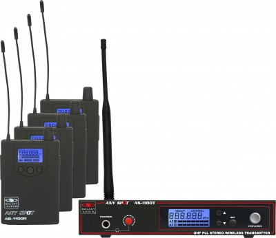 AS-1100-4 Wireless Personal Monitor Band Pack System