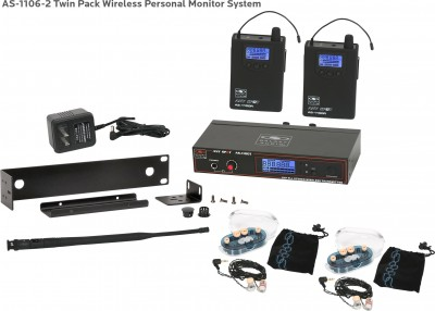 AS-1106-2 with EB6 Twin Pack Wireless In-Ear System