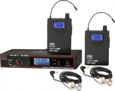 AS-1106-2 with EB6 Twin Pack Wireless Personal Monitor System