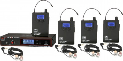AS-1106-4 with EB6 Band Pack Wireless Personal Monitor System