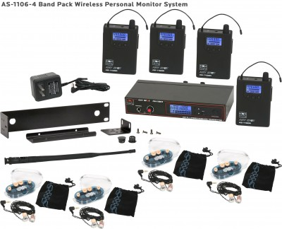 AS-1100-4 with EB6 Wireless In-Ear Band Pack System