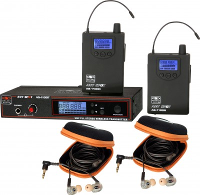 AS-1110-2 with EB10 Twin Pack Wireless Personal Monitor System