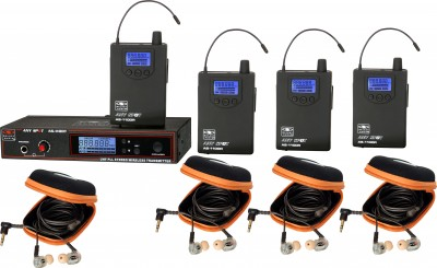 AS-1110-4 with EB10 Band Pack Wireless Personal Monitor System