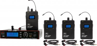 AS-1400-4 Wireless Personal Monitor Band Pack System with EB4 Ear Buds