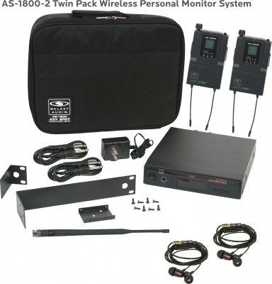 AS-1800-2 with EB4 Twin Pack In-Ear System