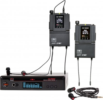 AS-1800-2 with EB4 Twin Pack Wireless Personal Monitor System