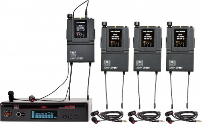 AS-1800-4 with EB4 Band Pack Wireless Personal Monitor System