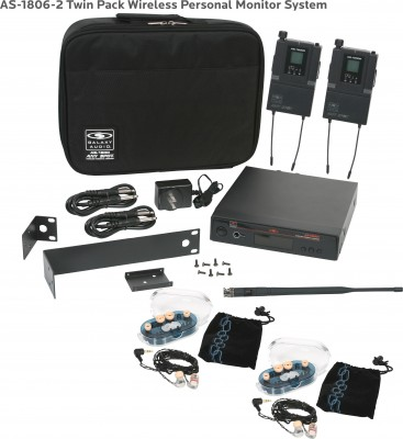 AS-1806-2 with EB6 Twin Pack In-Ear System