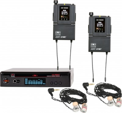 AS-1806-2 with EB6 Twin Pack Wireless Personal Monitor System
