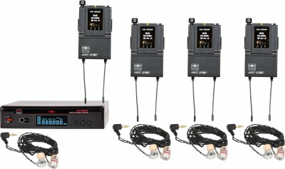 AS-1806-4 with EB6 Band Pack Wireless Personal Monitor System