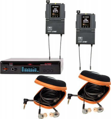 AS-1810-2 with EB10 Twin Pack Wireless Personal Monitor System