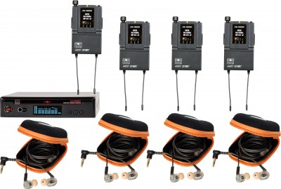 AS-1810-4 with EB10 Band Pack Wireless Personal Monitor System