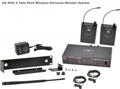 AS-950-2 Wireless Personal Monitor Twin Pack System