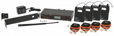 AS-1100-4 with EB10 Wireless Personal Monitor Band Pack System