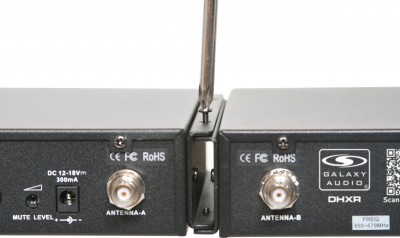 Dual Rack DHX Wireless Microphone Receivers